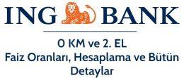 İNG Bank Taşıt Kredisi 2021 (Ertelemeli Faiz Hesaplama)