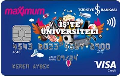 İş Üniversiteli Kart Görünümü, Avantajlı öğrenci kredi kartı