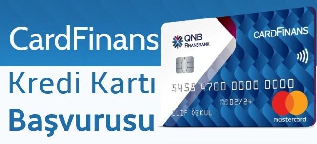 QNB Finansbank Kredi Kartı Başvurusu (SMS ile Bütün CardFians Kartlar)