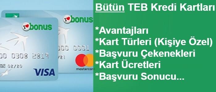 TEB Kredi Kartı Başvurusu (İnternetten Bonus Kartlar!)