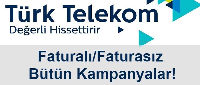 Türk Telekom Faturalı Hat Taşıma Tarifeleri 2021 (12 Kampanya)