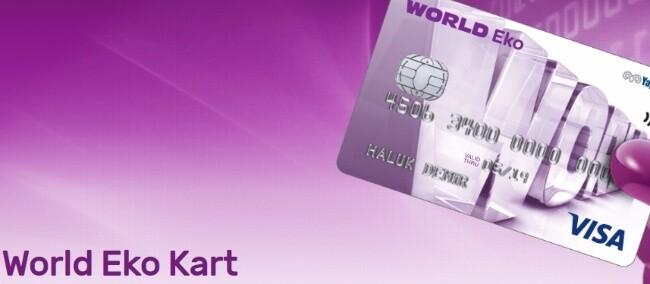 Yapı Kredi World Eko Kart (Aidatsız ve SMS Başvurusu)