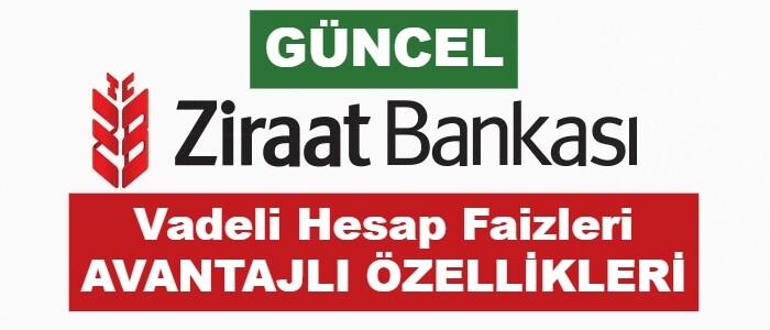 Ziraat Bankası Mevduat Faiz Oranları 2021 (GÜNCEL Vadeli Hesap)