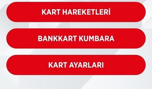 Ziraat Bankası İnternet Kart Ayarları Sayfası